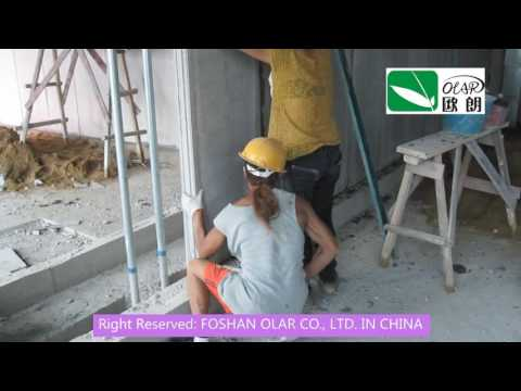 Foshan Olar Fiber Cement EPS Sandwich Single Panel Installation
