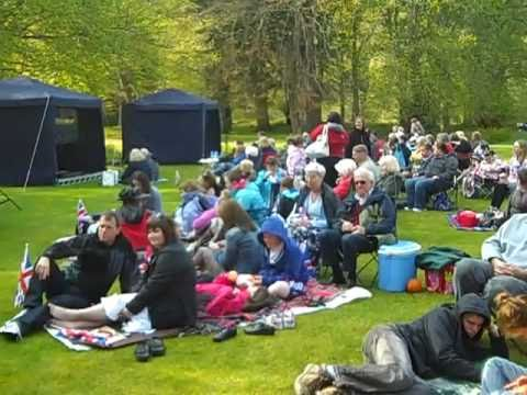 Crowds Watching The Royal Wedding At Balmoral Castle
