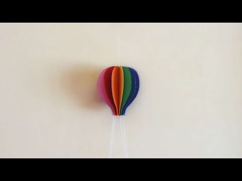 How To Make Colorful Paper Hot Air Balloon - DIY Crafts Tutorial - Guidecentral