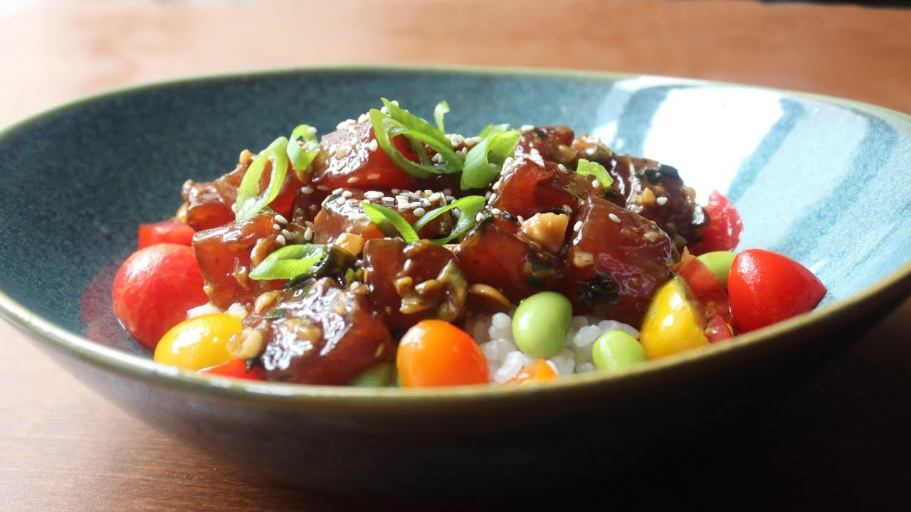 Tuna Poke Recipe How To Make Hawaiian Style Ahi Poke