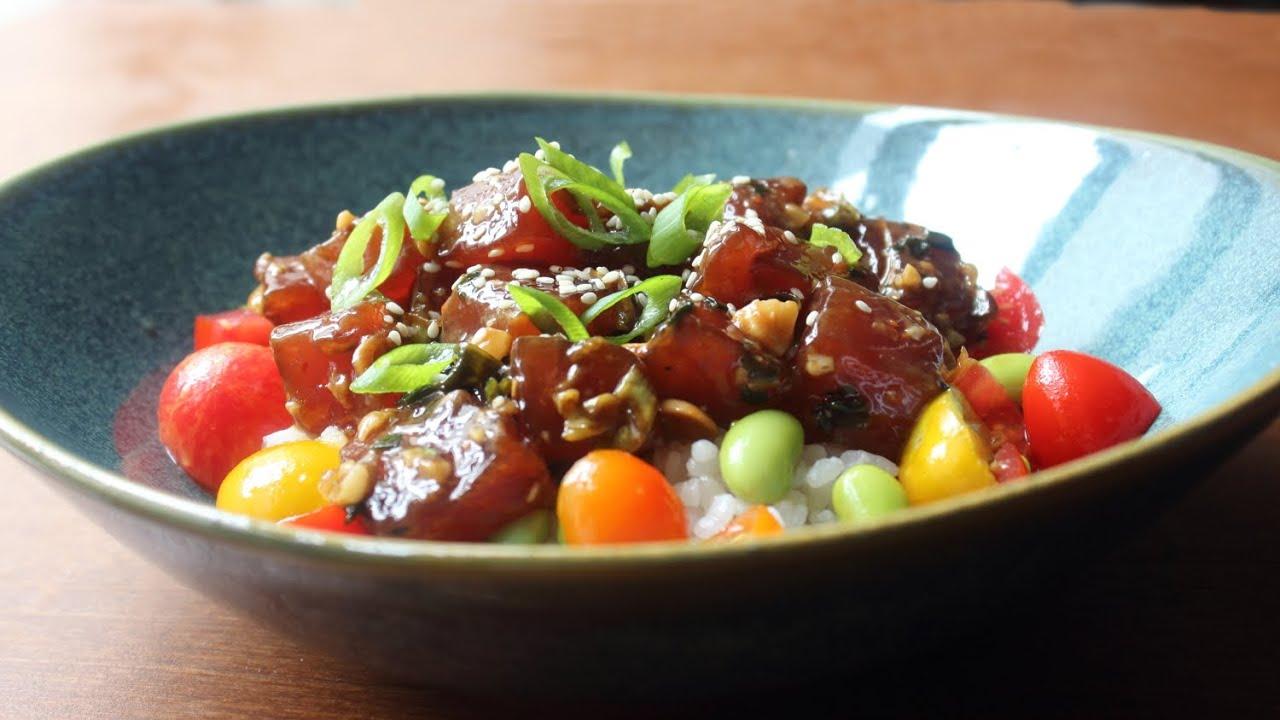 Tuna Poke Recipe How To Make Hawaiian Style Ahi Poke