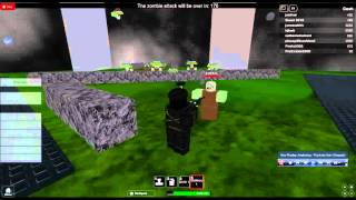 Lets play roblox part 2-Zombies and machine guns