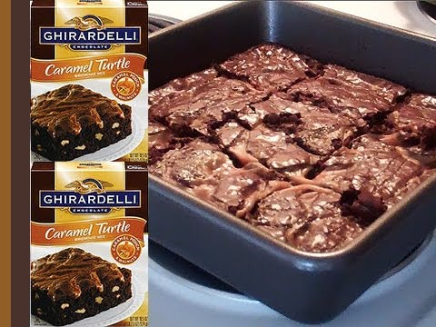 How To Make Ghirardelli's Chocolate Caramel Turtle Brownie Mix