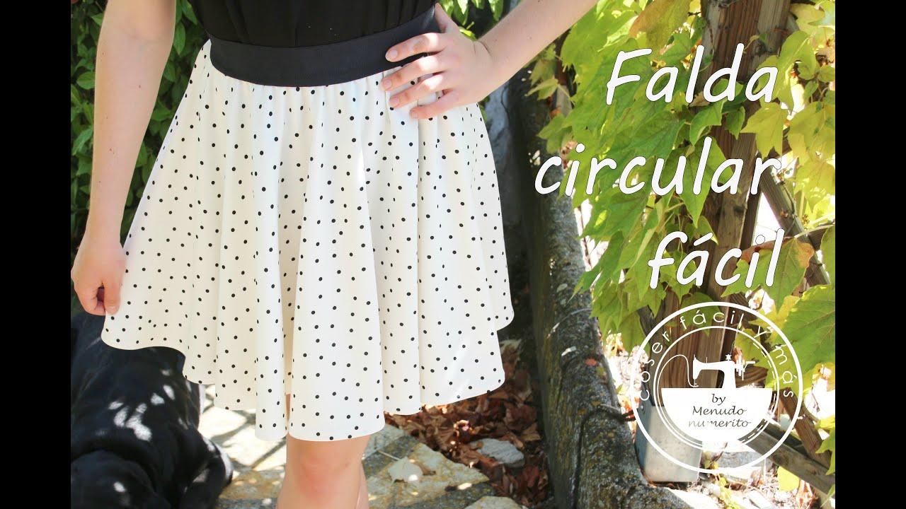 Cómo hacer una falda circular fácil - YouTube