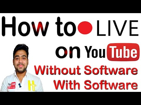 Live Stream on YouTube | YouTube Live | With Software | Without Software | OBS Tutorial | Hindi