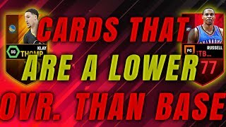 CARDS THAT ARE A LOWER OVERALL THAN BASE!! EP.1!!! GLITCH ELITE!!NBA LIVE MOBILE!!!