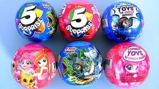 ZURU 5 Surprise  Ball Unboxing Collectable Toy Girls Pink and Boys Blue
