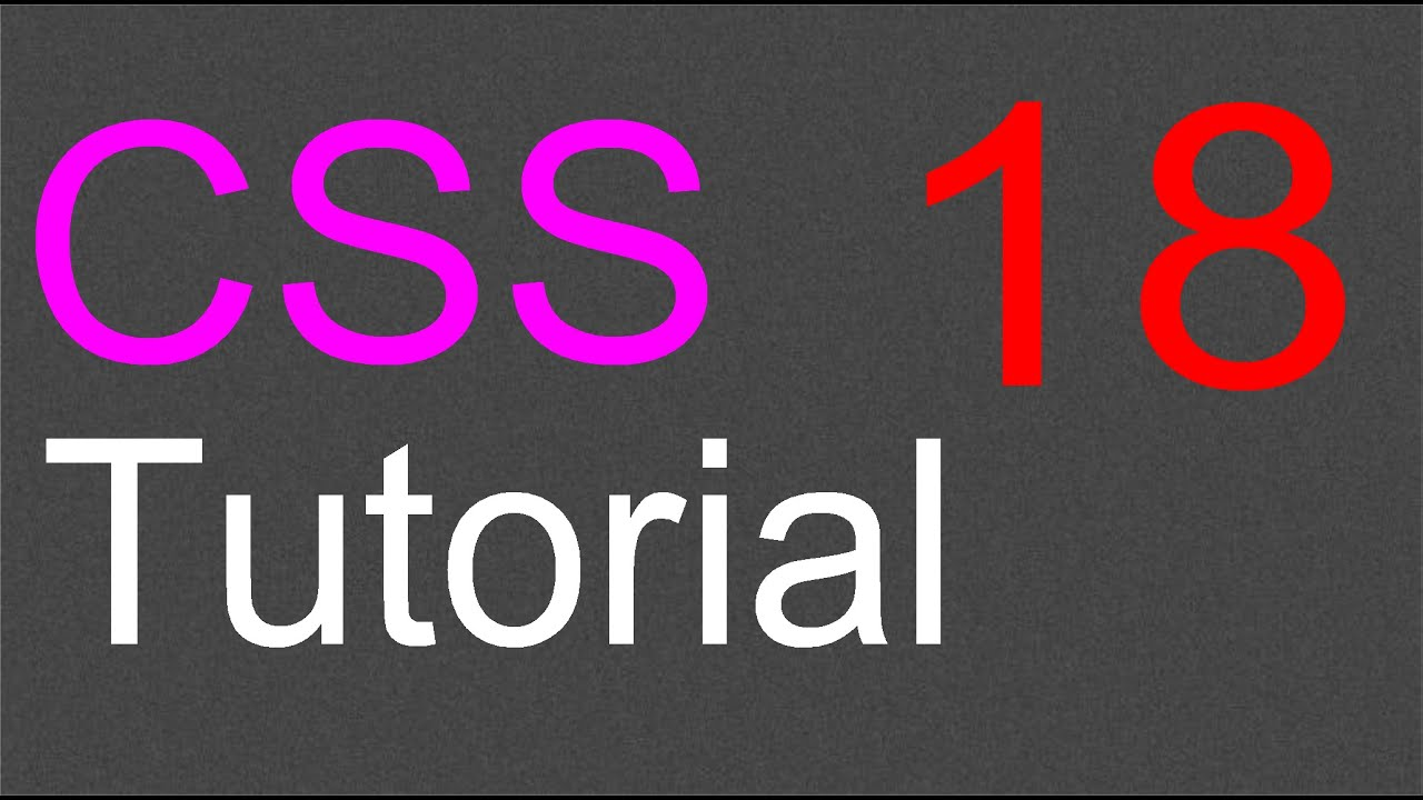 CSS Layout Tutorial - 18 - The Fixed Layout Part 3 - YouTube