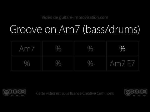 Groove on Am7 (95 bpm) - bass/drums : Backing Track