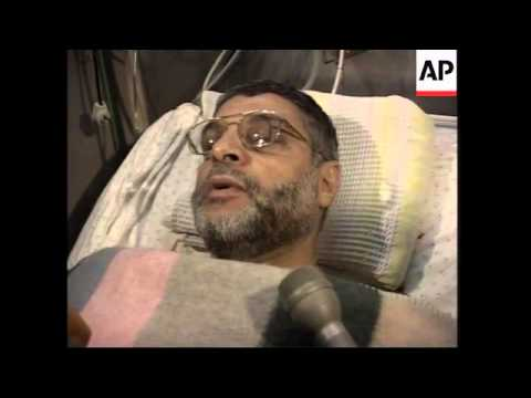 Injured Hamas leader speaks from hospital
