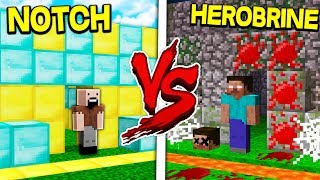 NOTCH HOUSE VS HEROBRINE HOUSE! - MINECRAFT