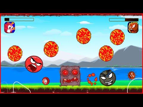 Красный шарик против Босса.  Видео для детей - Red Ball 4.от котика Браяна