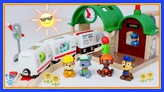 Поїзди для дітей відео, граючи з поїзда бріо і Томас, Щенячий патруль, Макквін - Бріо поїзд іграшки