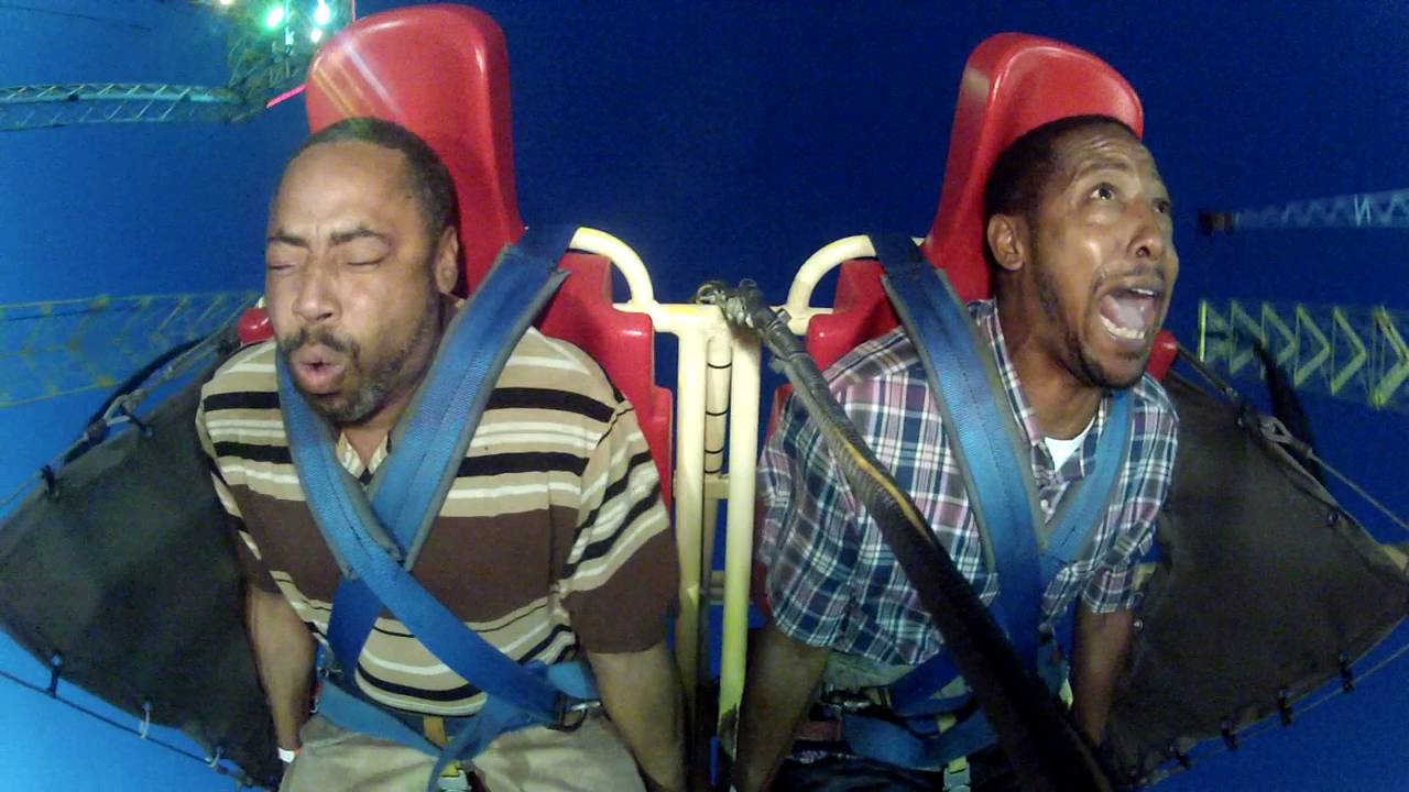 Warning Explicit language: Worlds Ghettoest Sling Shot Ride Ever!