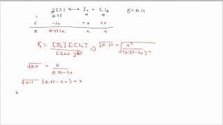 Chem30: Equilibrium Ice Table
