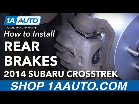 How to Install Rear Brake Pads Rotors 2014 Subaru XV Crosstrek