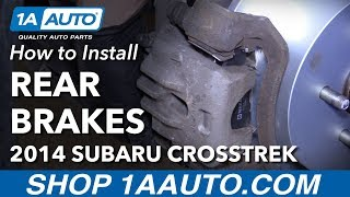 How to Install Rear Brake Pads Rotors 14-17 Subaru XV Crosstrek