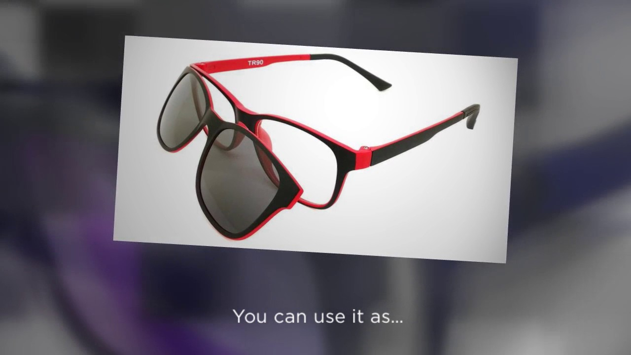 45b156b55a7 Magnetic Polarized Clip on Sunglasses - YouTube