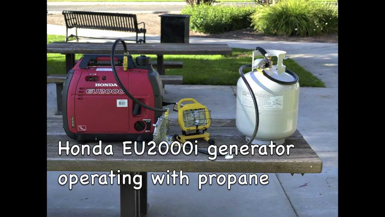 Awesome Honda EU2000i Generator Operating With Propane   YouTube