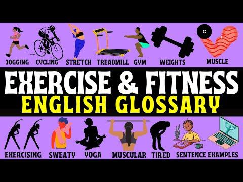 Fitness & Exercise English Vocabulary