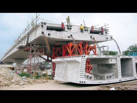 Incredible Fastest Bridge Construction Technology - Biggest Crane Heavy Equipment Machines Working