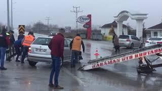 Karaman-Ereğli yolunda trafik kazası