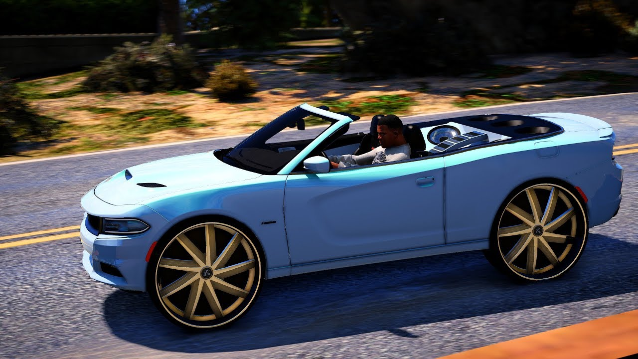 2016 Dodge Charger Convertible On Dub Floater S Grand Theft Auto V Mod