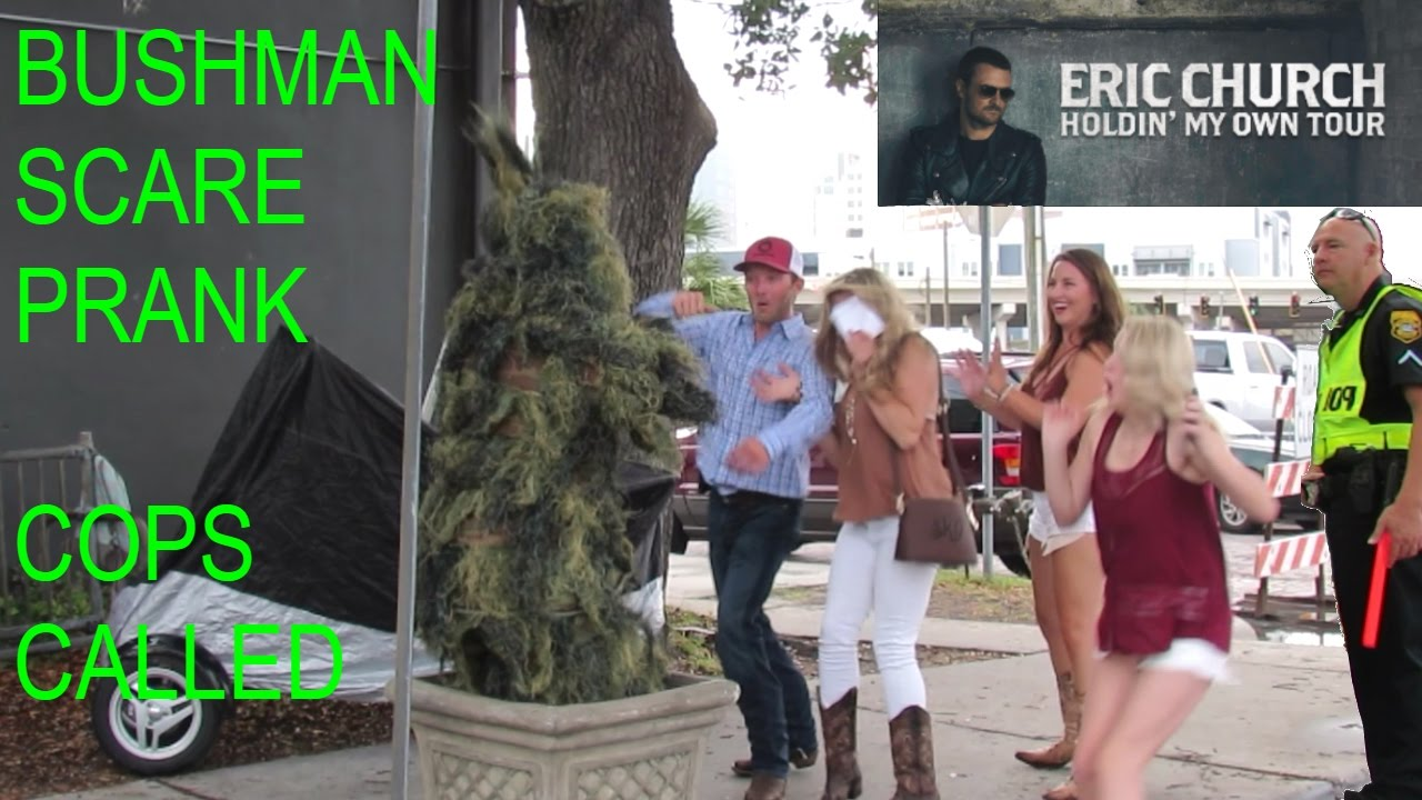 Eric The Car Guy On Youtube: BUSHMAN SCARE PRANK AT ERIC CHURCH CONCERT