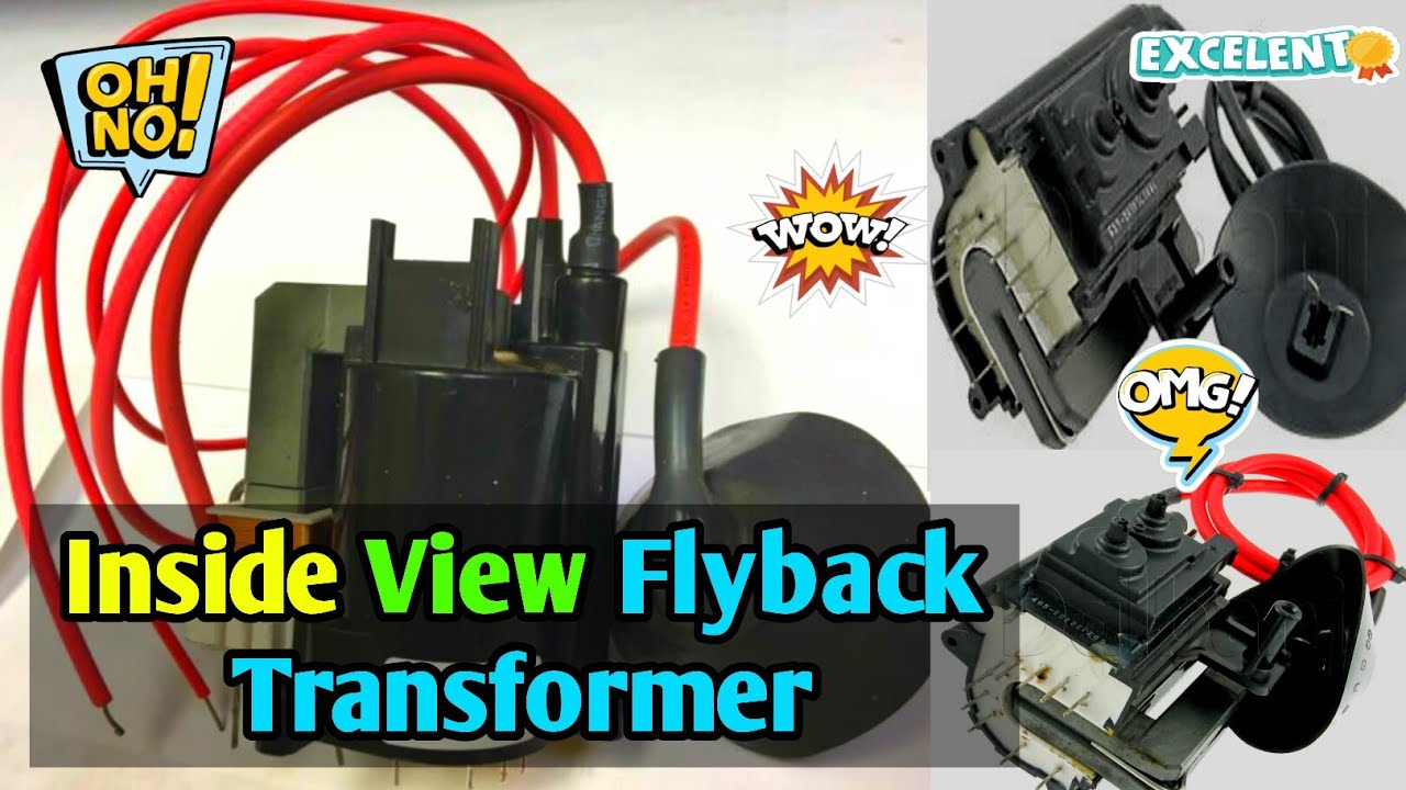 Inside View : TV Flyback Transformer || What's Inside the flyback  transformer by Live  Indian