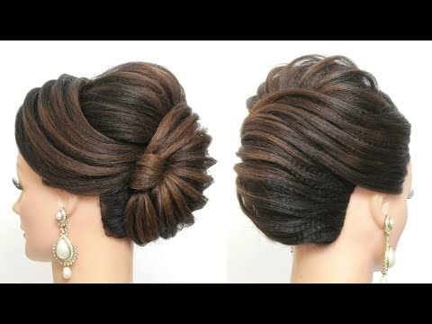 New French Roll. Latest Bridal Hairstyle For Long Hair Tutorial thumbnail