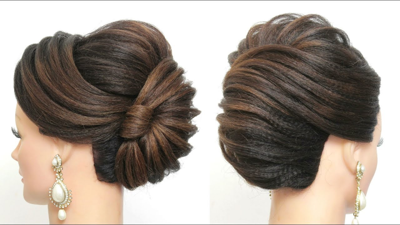 new french roll. latest bridal hairstyle for long hair tutorial