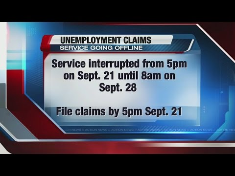 Unemployment insurance service interruption scheduled due to system upgrade