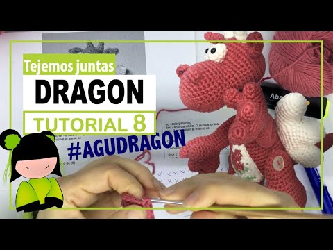 Dragon amigurumi paso a paso | TEJEMOS JUNTAS? | Parte 8 | seguimos con el cuerpo