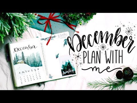 PLAN WITH ME | December 2017 Bullet Journal + November Flip Through