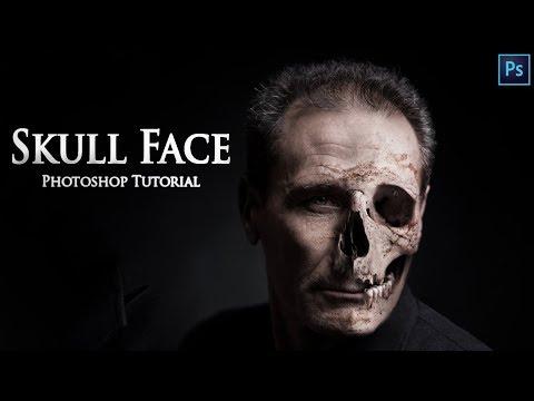Halloween Skull Face - Photoshop Tutorial