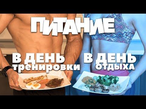БЖУ В ДЕНЬ ТРЕНИРОВКИ / В ДЕНЬ ОТДЫХА