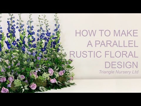 How To Make A Parallel Rustic Arrangement For Corporate Event Or Wedding- Wholesale Flowers Direct