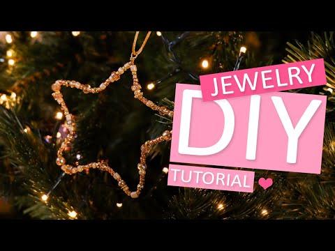 DIY Tutorial: Sterne; Anhänger, die an keinem Weihnachtsbaum fehlen sollte