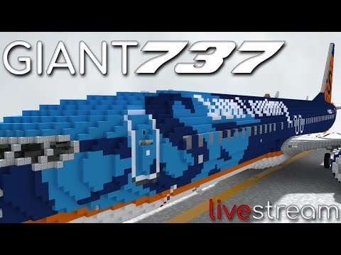 Painting the Giant B737! Minecraft LIVE STREAM!