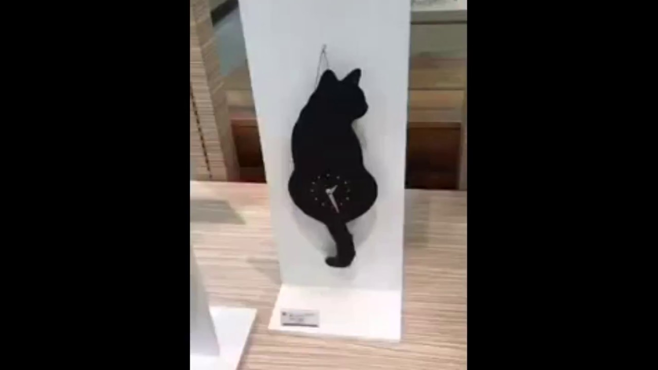Cat tail wall clock youtube cat tail wall clock amipublicfo Gallery