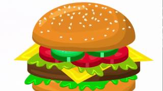 Hamburger - Adobe Illustrator cs6 tutorial. How to create fastfood  icon, design