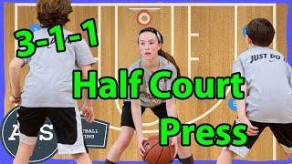 3-1-1 Half Court Press Basketball Defense