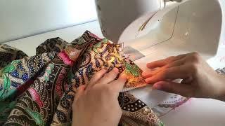 วิธีเย็บผ้าถุง เย็บผ้าซิ่น ไม่ต้องใช้จักรโพ้ง