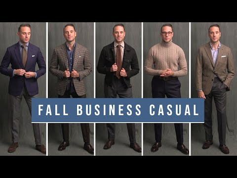 5 Stylish Business Casual Outfits For Fall | Men's Smart Casual Outfit Ideas