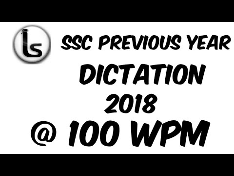 SSC Shorthand Previous Year Dictation (01)  2018 Skill Test Dictation 100 Wpm   Likho Steno Academy 