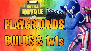 PLAYGROUNDS 1v1s VS YOUTUBERS & VIEWERS! (Fortnite Battle Royale)