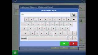 Ag Lideri ® Integra ekranda OptRx crop sensör bir yapılandırma oluşturma