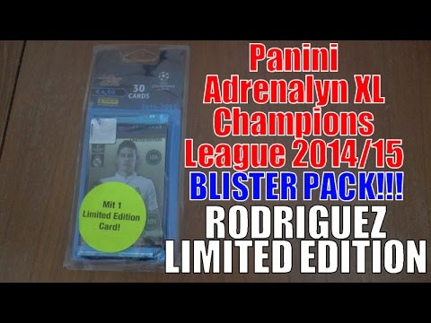 JAMES LIMITED EDITION ⚽️ BLISTER PACK ⚽️ Panini ADRENALYN XL CHAMPIONS LEAGUE 2014-15 TCG