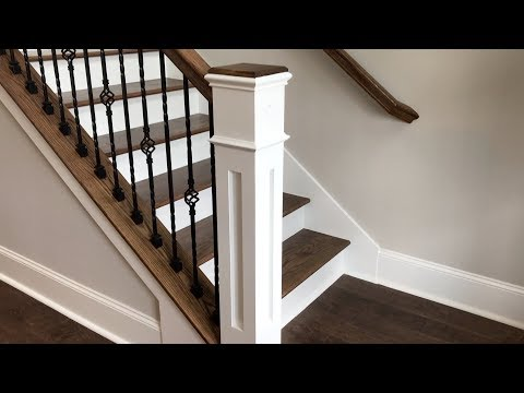 how to build box newel post