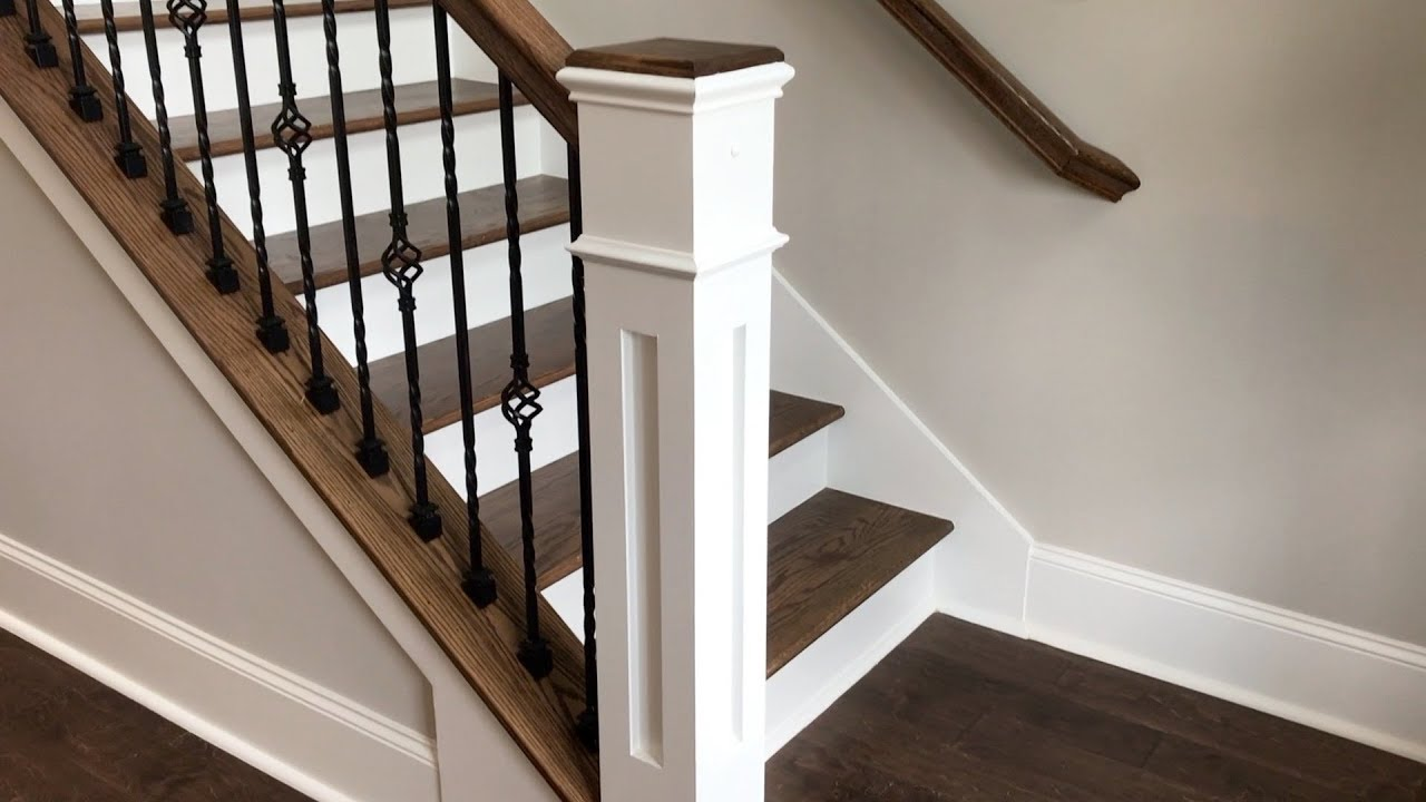 Box Newel Post Day Vlog Youtube   Mission Style Newel Post   Staircase   Stair Banister   Type   5 Inch   Fluted Box